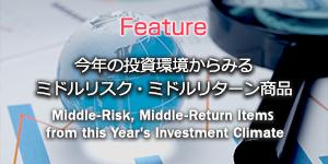 今年の投資環境からみるミドルリスク・ミドルリターン商品
