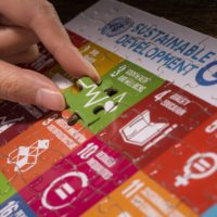 Detail of the SDG #3 on occasion of the World Health Day (WHO): Theme Universal Health Care